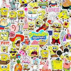 "100 PCS ""Spongebob"" Stickers"