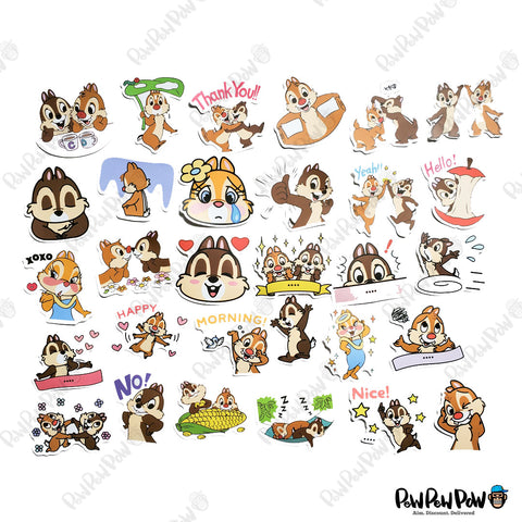 "50 PCS ""Squirrel"" Vinyl Stickers"