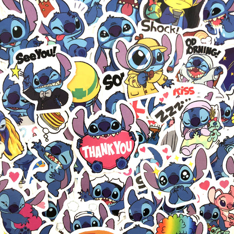 "50 PCS ""Stitch"" theme Stickers"
