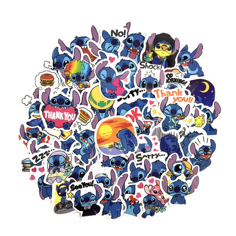 "50 PCS ""Stitch"" theme Stickers-SALE"
