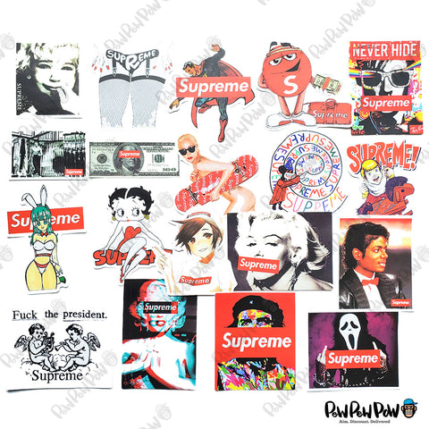 "90 PCS ""Supreme"" Vinyl Stickers-SALE"