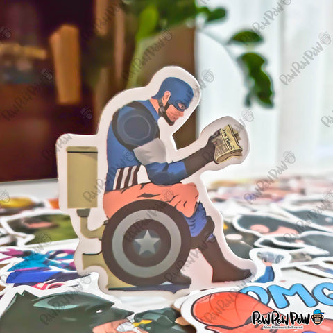 "50 PCS ""Dirty Superheroes"" Vinyl Stickers"