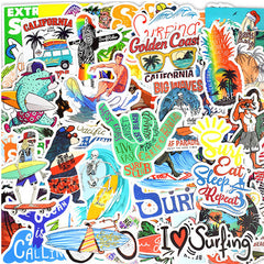 "50 PCS ""Surfing"" Stickers"