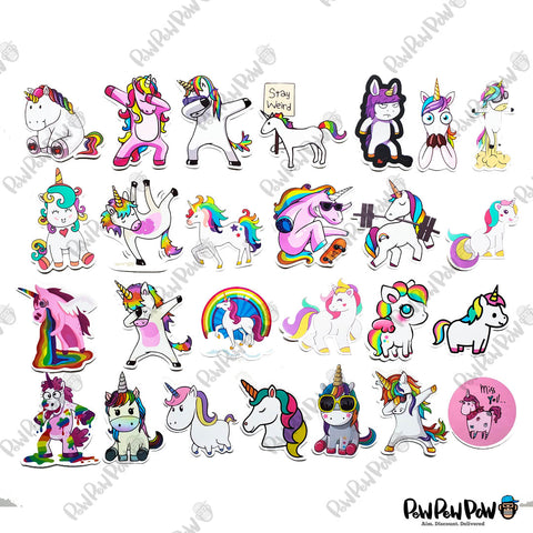 "50 PCS ""Unicorn"" Vinyl Stickers"