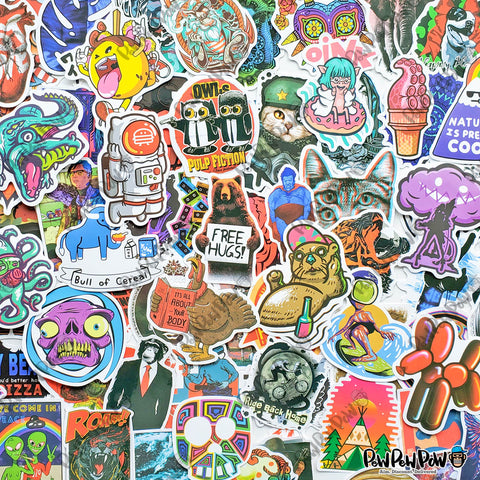 "100 PCS ""Urban Street Art"" Vinyl Sticker Pack"