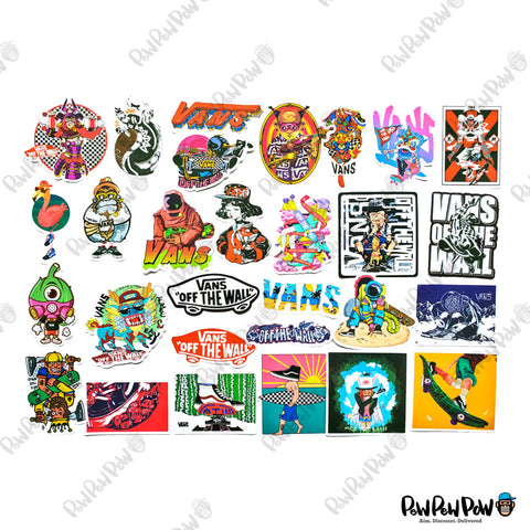 "100 PCS ""VANS Off The Wall"" Vinyl Sticker Pack"