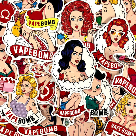 "32 PCS ""VapeBomb theme Stickers-SALE"