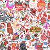 "Image of 50 PCS ""Merry Christmas"" Vinyl Stickers"