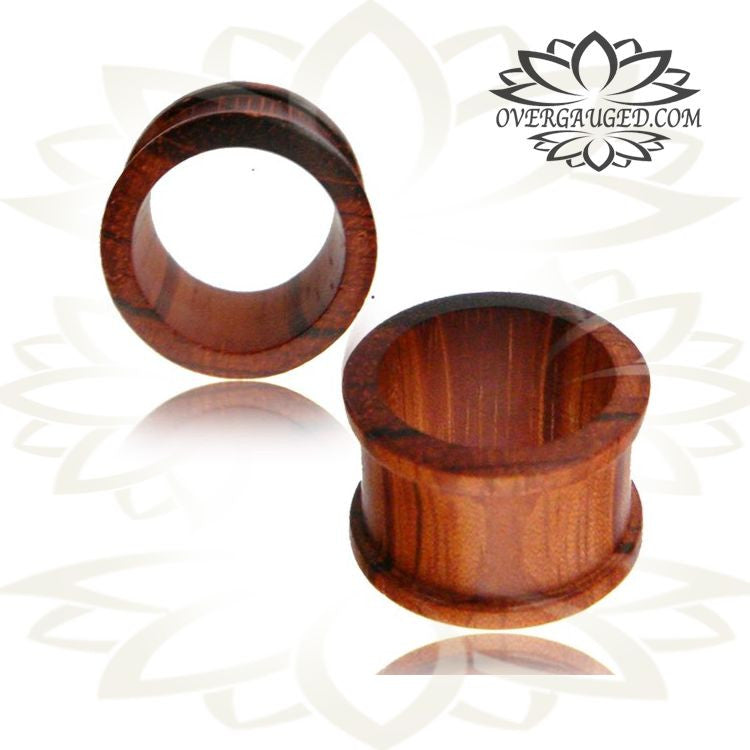 Bog Oak Wood Plugs PAIR made to order Wooden custom size Double Flare Plugs