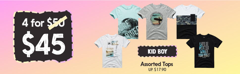 Fox Kid Boy Fashion Clothing Table Bundle Deal