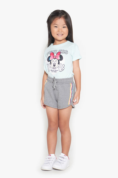FOX Kid Girl Side Striped Jersey Shorts