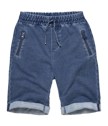 Cotton Blend Shorts with Zipper pocket