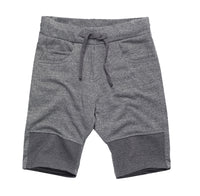 Cotton Blend Shorts with Knee detail