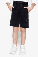 FOX Kid Boy Zipper Detail Drawstring Shorts