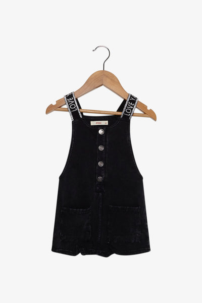 FOX Newborn & Baby Denim Dungaree Shorts