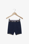 FOX Newborn & Baby Denim Printed Waist Shorts