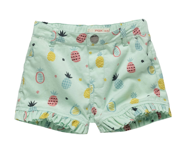 Fruity Prints Shorts with Frills