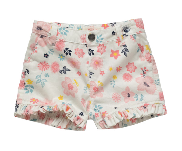 Floral Prints Shorts with Frills