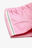 Cotton Shorts with Side Stripes