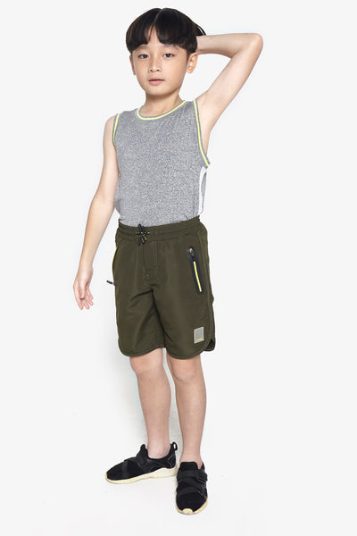 FOX Kid Boy Zipper Pocket Drawstring Shorts