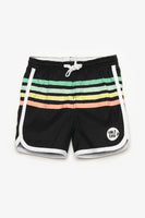 FOX BABY Boy Multicolour Striped Sports Shorts