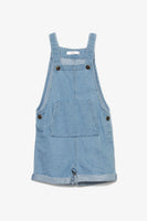Denim Dungaree Shorts
