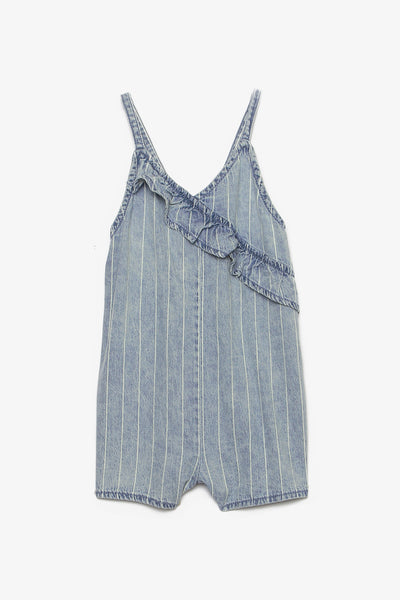 FOX BABY Girl Soft Denim Romper
