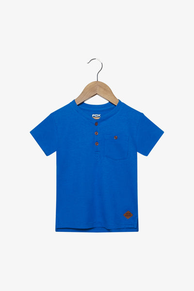 FOX Newborn & Baby Pocket Henley Tee