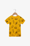 FOX Newborn & Baby Allover Snack Printed Tee