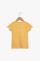 FOX Newborn & Baby Striped Printed Tee