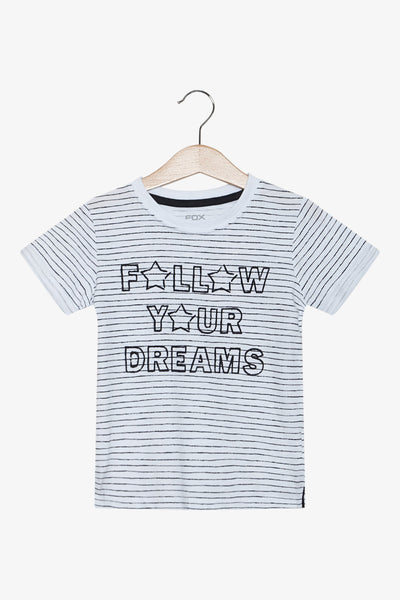 FOX Newborn & Baby Striped Graphic Tee