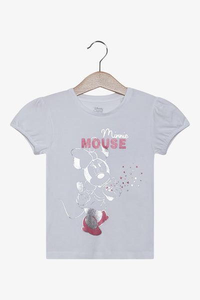 FOX Newborn & Baby Minnie Metallic Printed Tee