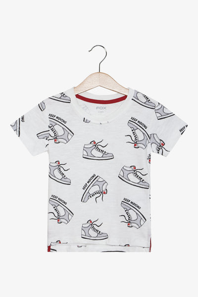 FOX Newborn & Baby All Over Sneakers Graphic Print Tee