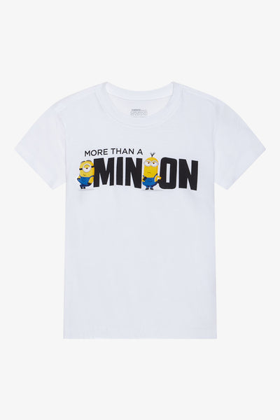 FOX Kid Boy Minion Print Graphic Top