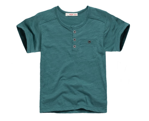 Henley Tee with Pocket details