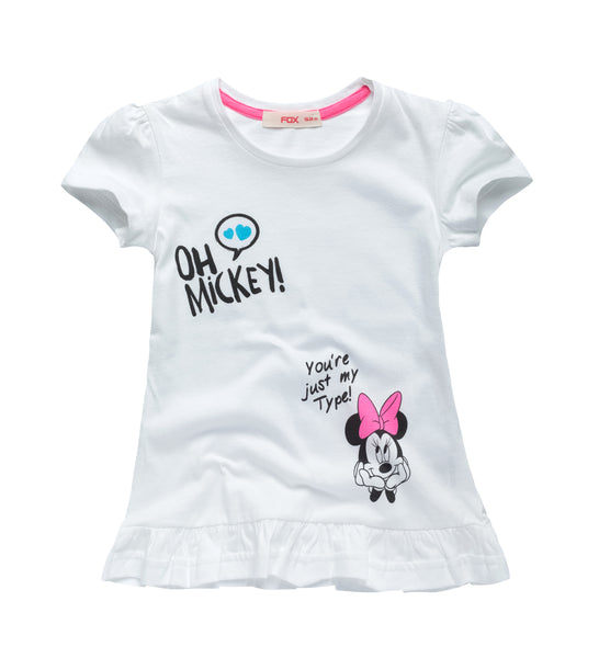 Minnie Mouse Tee with Ruffle Hem