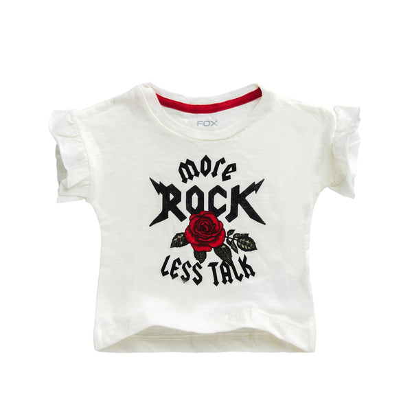 Rock Tee with Frilly Sleeve