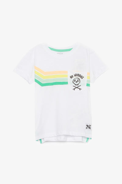 FOX BABY Boy Short Sleeve Striped Tee