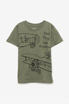FOX BABY Boy Short Sleeve Airplane Retro Tee