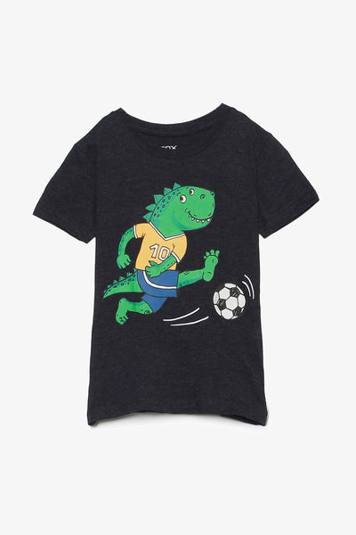 FOX BABY Boy Short Sleeve Dinosaur Tee