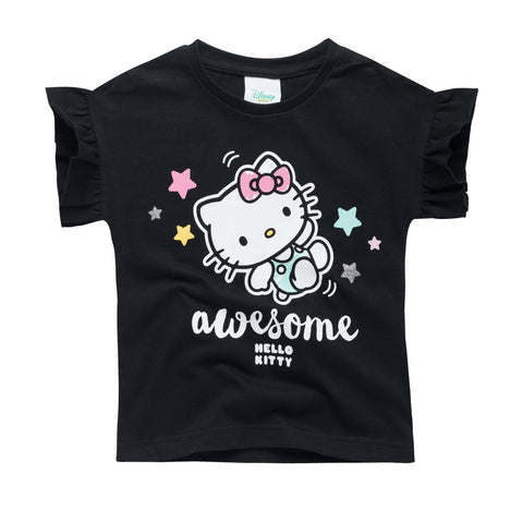 Hello Kitty Tee with Frilly Sleeve