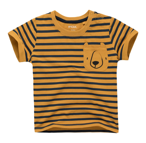 Striped Bear Pocket Tee