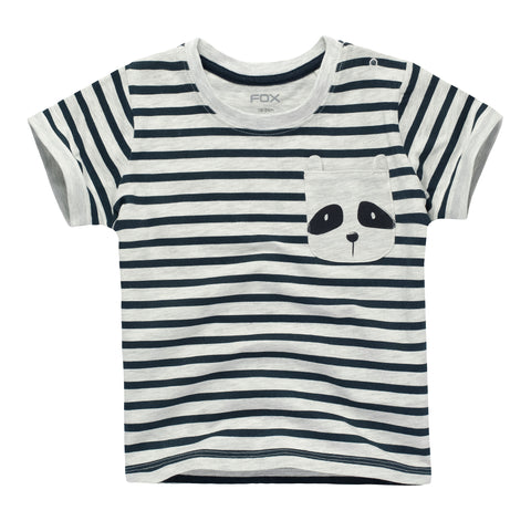 Striped Racoon Pocket Tee