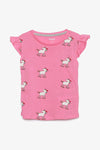 FOX BABY Girl Short Sleeve Printed Tee