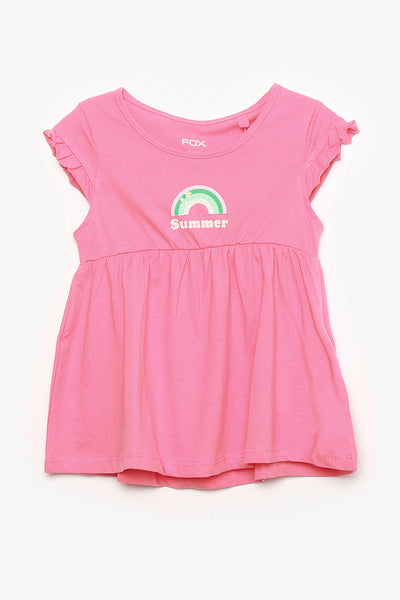 FOX BABY Girl Rainbow Jersey Dress