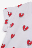 FOX BABY Girl Capped-Sleeve Heart Tee