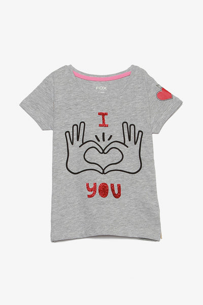 FOX BABY Girl 'I Love You' Tee