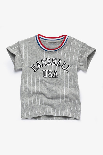 FOX BABY Boy Striped Printed Tee