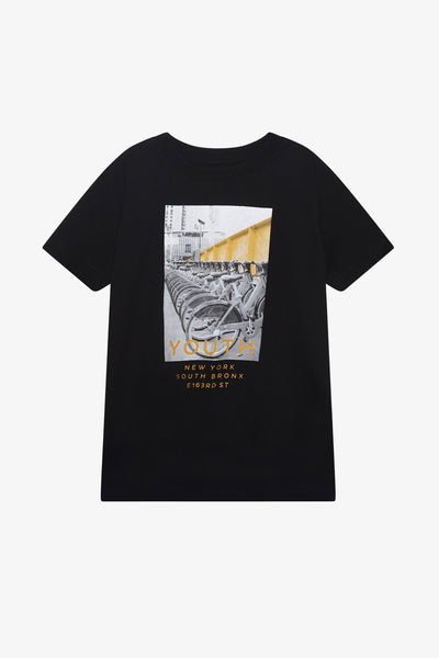 FOX Kid Boy Youth NY Bronx Graphic Print Tee