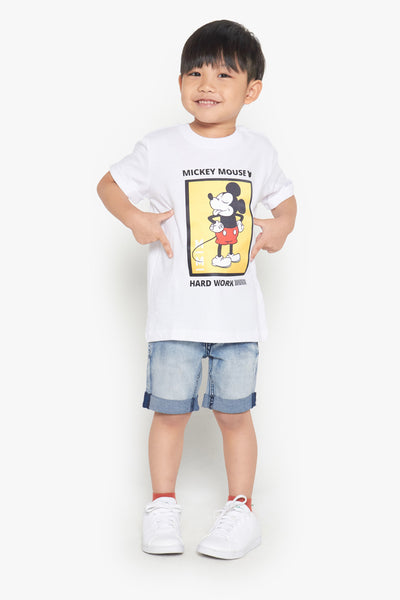 FOX Kid Boy Hard Work Mickey Printed Tee